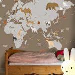 Decoração de viagem para crianças - Mapa no quartoDecoração de viagem para crianças - Mapa no quarto