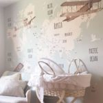 Decoração de viagem para crianças - Mapa no quarto